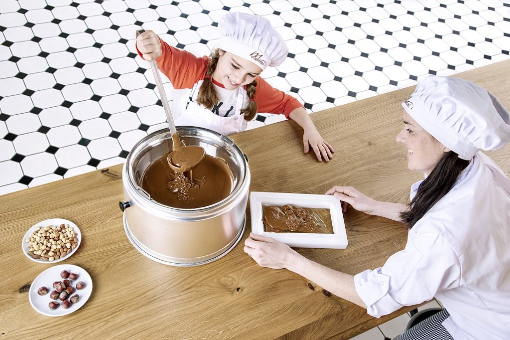 Maestrani Chocolarium Schokolade giessen